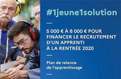 Visuel plan de relance de l'apprentissage pour l'alternance au CFA CCI Formation Mayenne